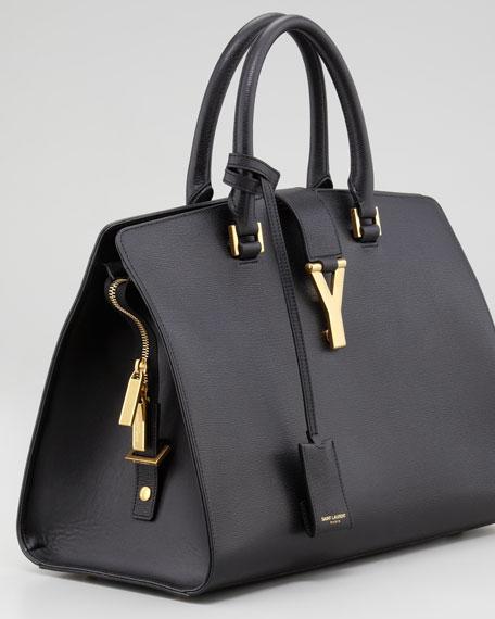 Y Ligne Medium Textured Bag, Black