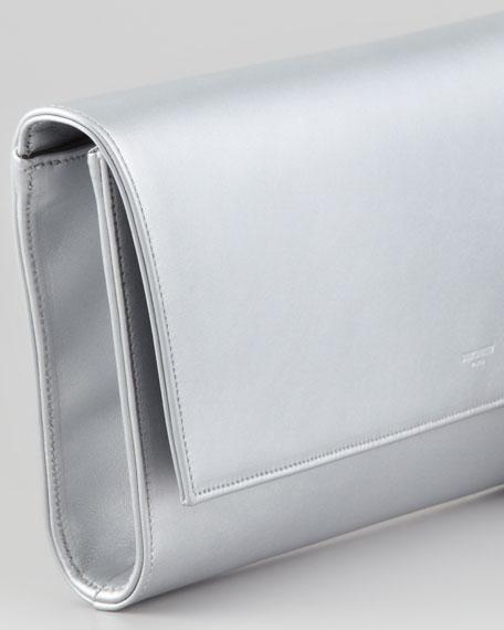 Diagonale Leather Clutch Bag, Silver