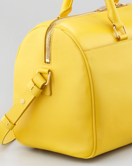 Saint Laurent Small Rigid Crossbody Duffel Bag, Yellow