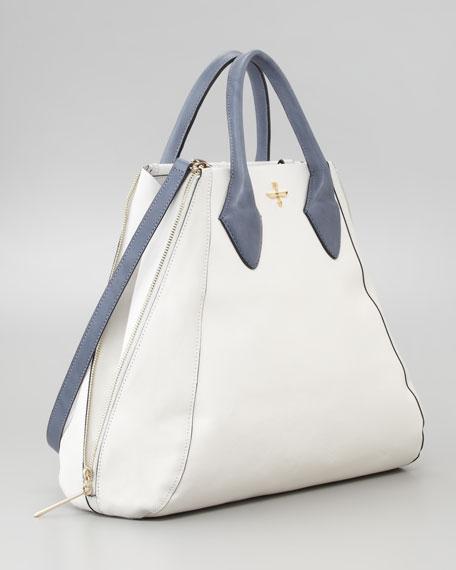Yves Medium Tote Bag, White