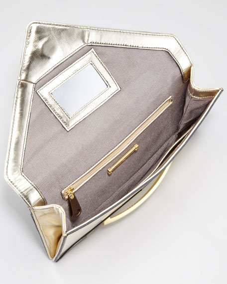 Marlene Envelope Clutch Bag, Gold