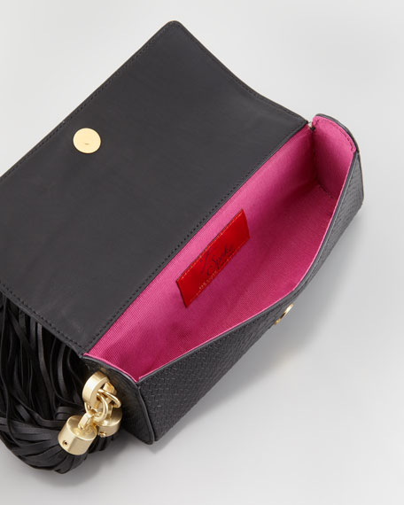 Claudette Tassel Clutch Bag, Black