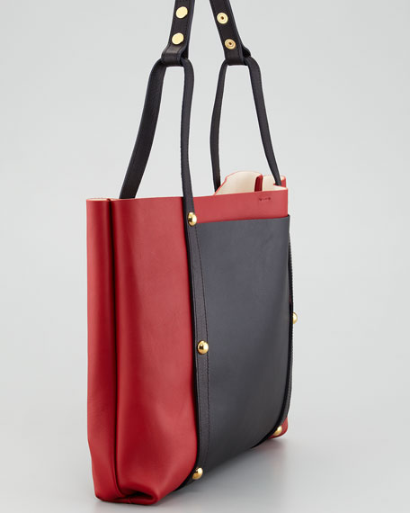 East-West Tie Tote Bag
