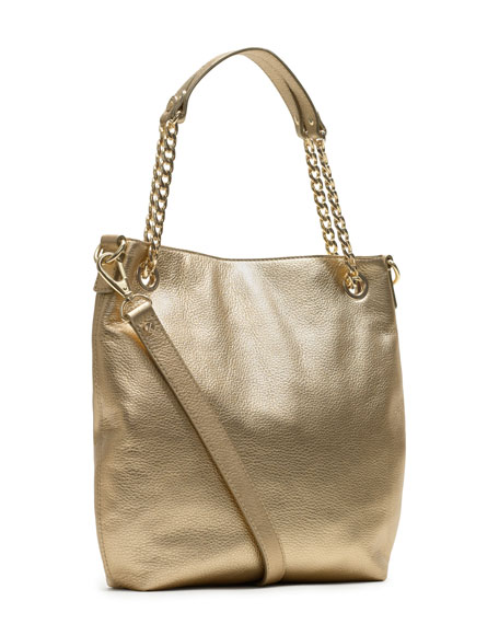 Medium Jet Set Pebbled Shoulder Tote
