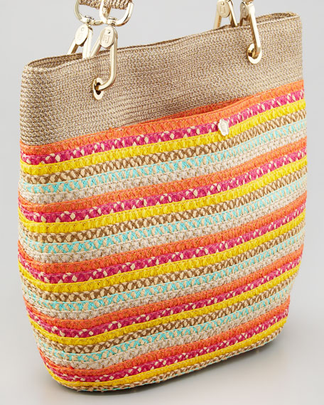 Squishee Clip Tote Bag, Multi Colors