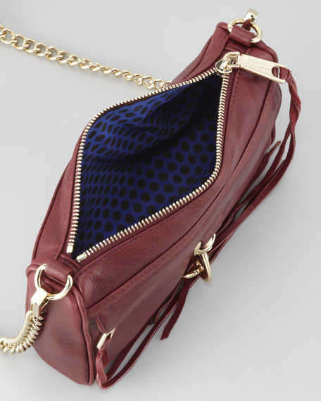 Mini M.A.C. Crossbody Bag, Burgundy