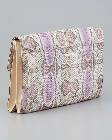 Python Big Honey Clutch Bag