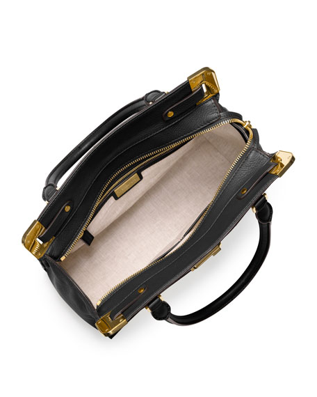 Blake Pebbled Leather Satchel