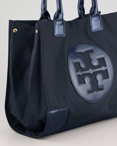 Ella Nylon Tote Bag, Navy