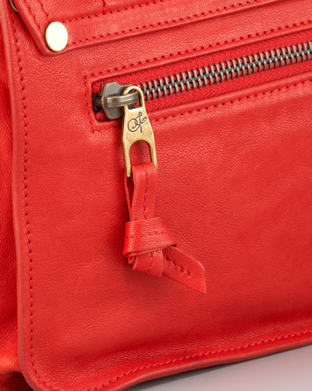 PS1 Leather Pochette, Bright Red