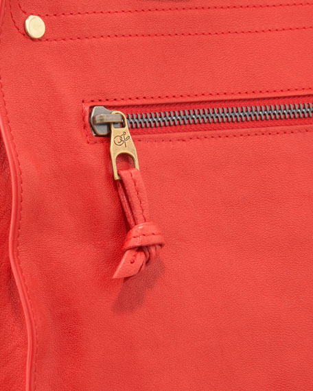 PS1 Leather Tote Bag, Bright Red