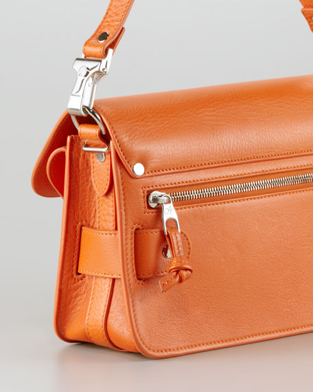 PS11 Mini Classic Leather Shoulder Bag, Orange