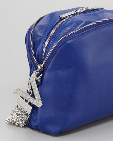 Laser Cutout Print Runway Bag, Blue