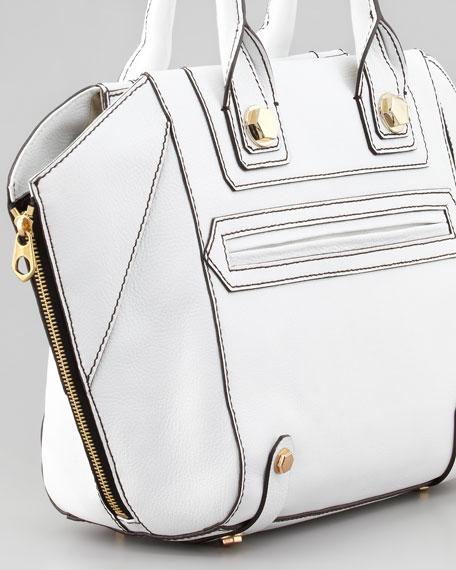 Megan Convertible Tote Bag, White