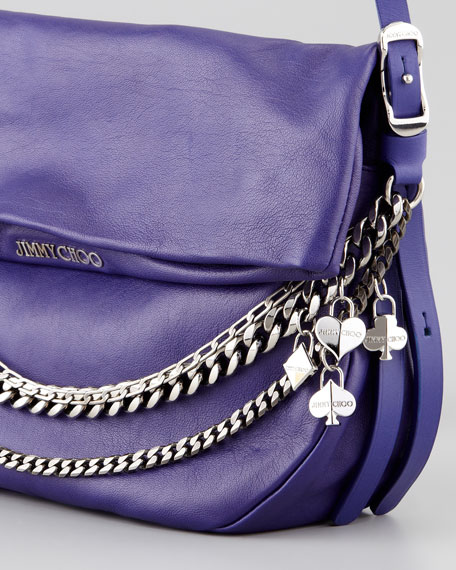 Biker Small Crossbody Bag, Purple