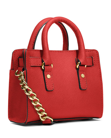 Mini Hamilton Saffiano Messenger Bag