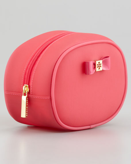 Small Jelly Bow Cosmetic Case, Strawberry