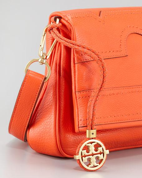 Amalie Fold-Over Messenger Bag, Fire Orange