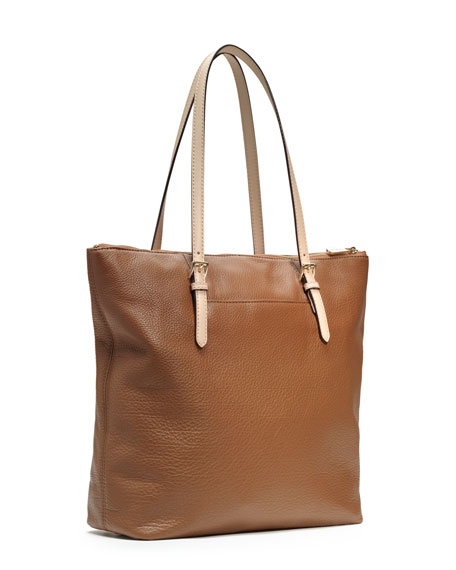 Large Jet Set Pebbled Leather Tote
