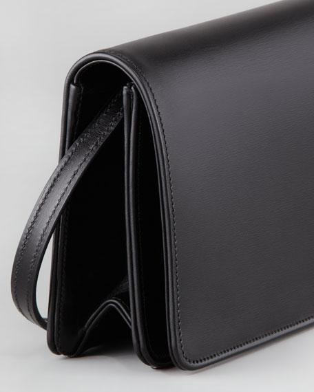 Marquage Medium Clutch Bag, Black