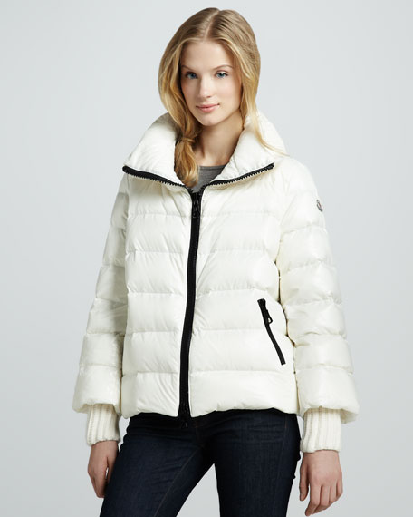 Cigale Rib-Trim Puffer Jacket