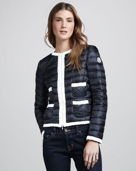 Flavienne Contrast Puffer Coat