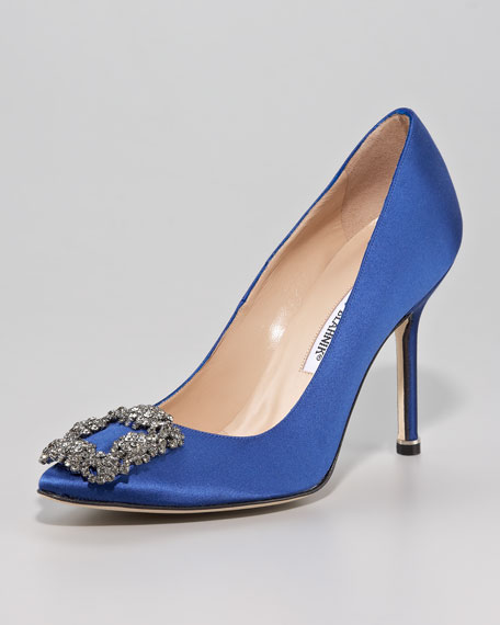 Something Blue Satin Pump