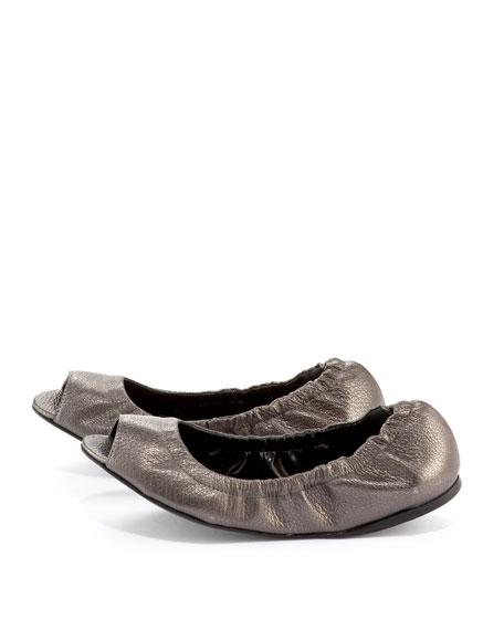 Jaden Peep-Toe Ballerina Flat