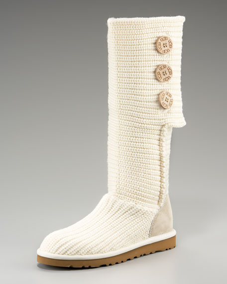 Cardy Crochet Button Boot