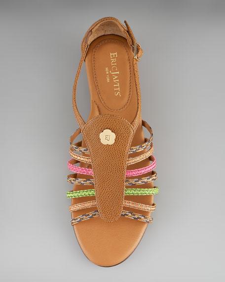 Braided-Strap Gladiator Sandal