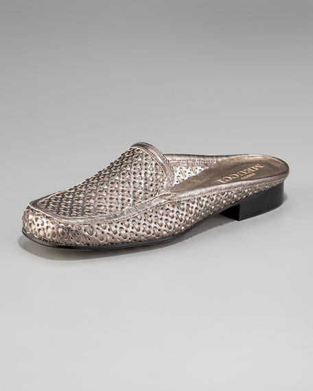 Stained Woven Leather Mule