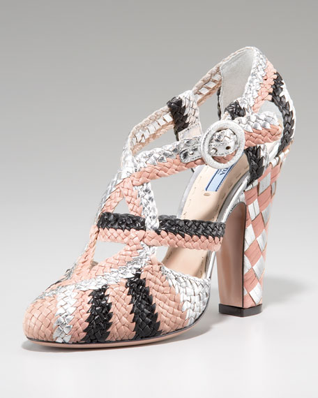 Woven Striped Mary Jane