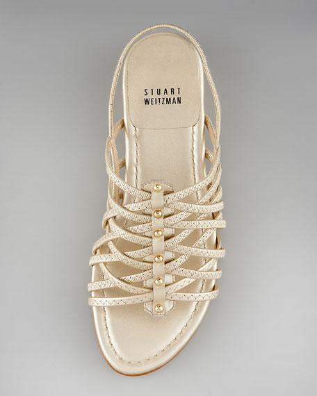 Crisscross Leather Sandal