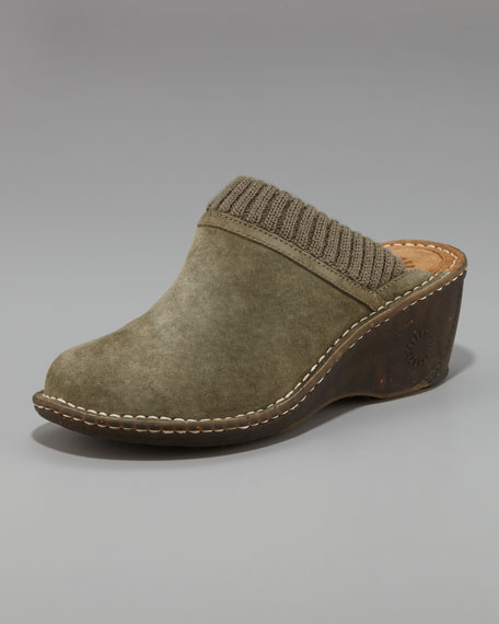 Gael Suede Slip-On Wedge