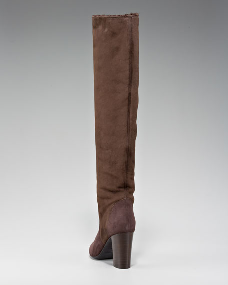 Shearling-Lined Knee Boot