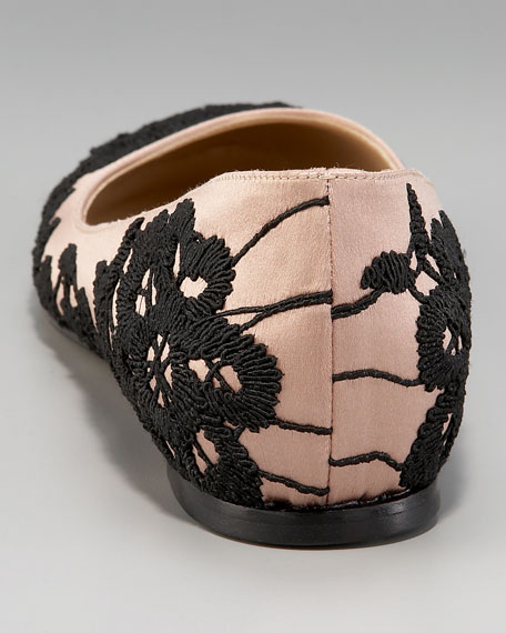 Lace-Embroidered Ballerina