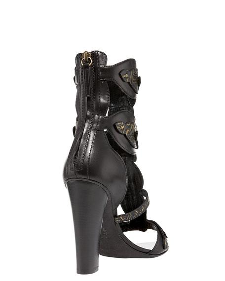 Double-Cuff T-Strap Sandal
