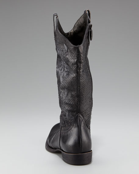 Perforated Distressed Boot