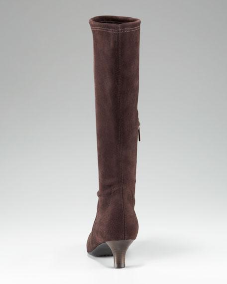 Weatherproof Kitten-Heel Boot
