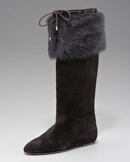 Ureesa Shearling-Cuff Boot