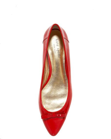 elaina patent skimmer, red