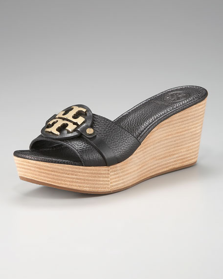 Patti Logo Wedge Sandal