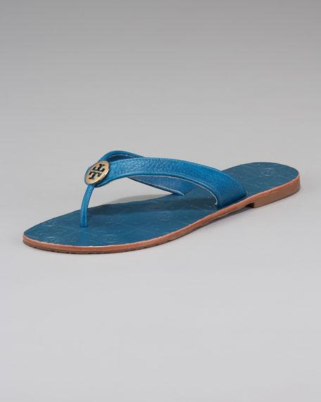 Thora Tumbled Leather Thong