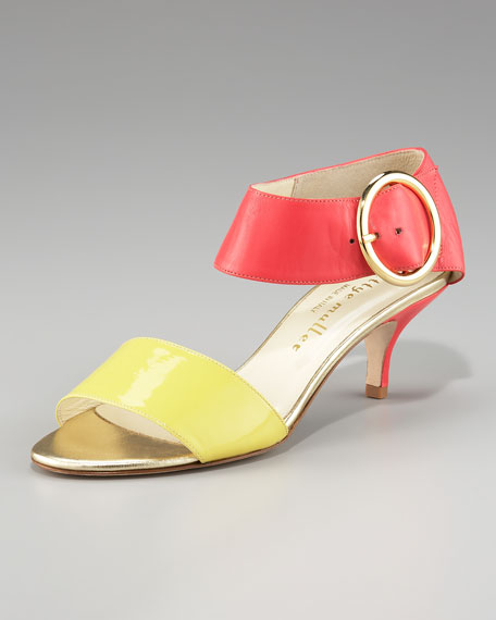 Colorblock Leather Sandal