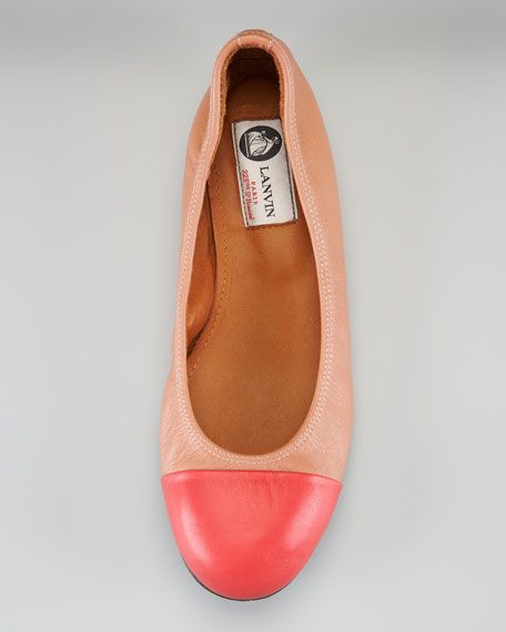 Cap-Toe Ballerina Flat
