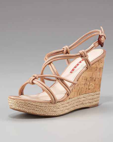 Leather Wedge Sandal