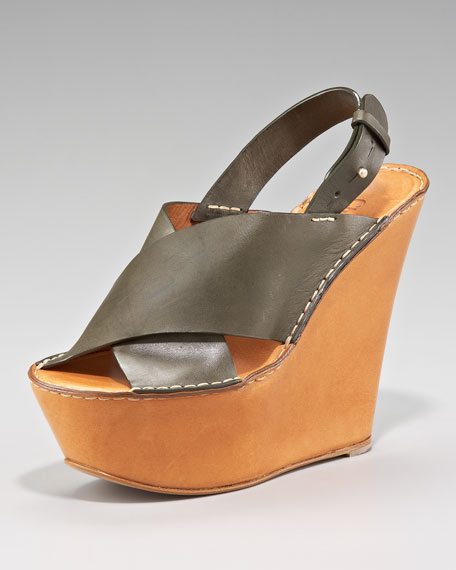 Tuscon Crisscross Wedge Sandal