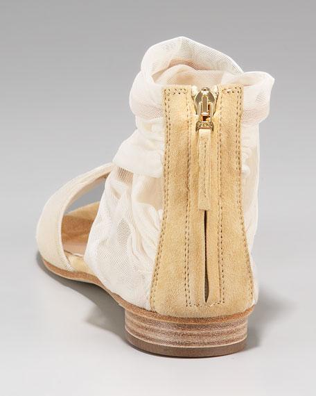 Flat Chiffon Sandal