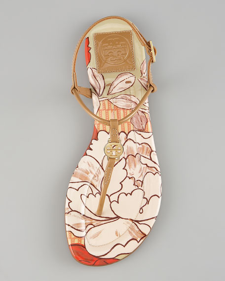 Emmy Print-Insole Thong Sandal