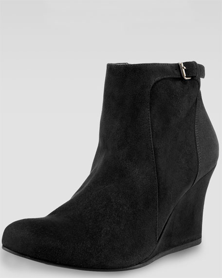 Suede Wedge Ankle Boot